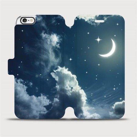 Flipové pouzdro Mobiwear na mobil Apple iPhone 6 / iPhone 6s - V145P Noční obloha s měsícem