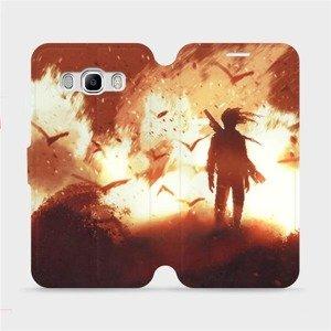 Flipové pouzdro Mobiwear na mobil Samsung Galaxy J5 2016 - MA06S Postava v ohni