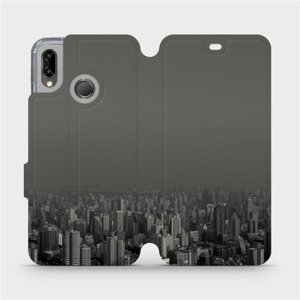 Flipové pouzdro Mobiwear na mobil Huawei P20 Lite - V063P Město v šedém hávu