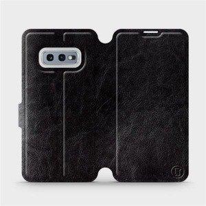 Flipové pouzdro Mobiwear na mobil Samsung Galaxy S10e v provedení C_BLS Black&Gray s šedým vnitřkem