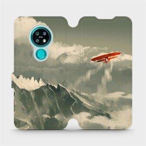 Flipové pouzdro Mobiwear na mobil Nokia 7.2 - MA03P Oranžové letadlo v horách