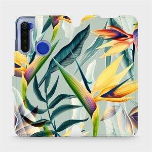Flipové pouzdro Mobiwear na mobil Xiaomi Redmi Note 8T - MC02S Žluté velké květy a zelené listy