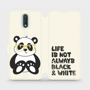 Flipové pouzdro Mobiwear na mobil Nokia 2.3 - M041S Panda - life is not always black and white