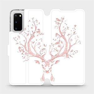Flipové pouzdro Mobiwear na mobil Samsung Galaxy S20 - M007S Růžový jelínek