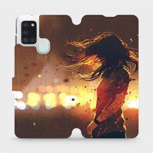 Flipové pouzdro Mobiwear na mobil Samsung Galaxy A21S - MA02S Tetovaná dívka