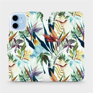 Flipové pouzdro Mobiwear na mobil Apple iPhone 12 mini - M071P Flóra
