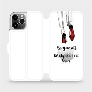 Flipové pouzdro Mobiwear na mobil Apple iPhone 12 Pro - M046P Be yourself