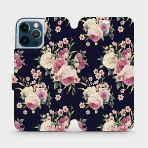 Flipové pouzdro Mobiwear na mobil Apple iPhone 12 Pro Max - V068P Růžičky