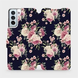Flipové pouzdro Mobiwear na mobil Samsung Galaxy S21 Plus 5G - V068P Růžičky