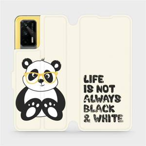 Flipové pouzdro Mobiwear na mobil Realme GT 5G - M041S Panda - life is not always black and white