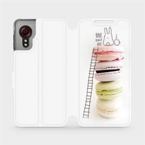 Flipové pouzdro Mobiwear na mobil Samsung Galaxy Xcover 5 - M090P Makronky - have a nice day