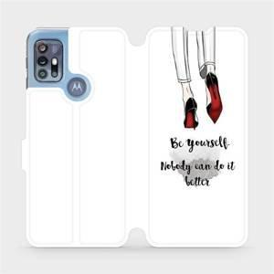 Flipové pouzdro Mobiwear na mobil Motorola Moto G20 - M046P Be yourself