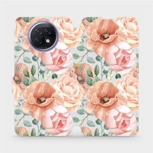 Flip pouzdro Mobiwear na mobil Xiaomi Redmi Note 9T 5G - MP02S Pastelové květy