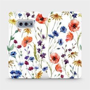 Flip pouzdro Mobiwear na mobil Samsung Galaxy S10e - MP04S Luční kvítí