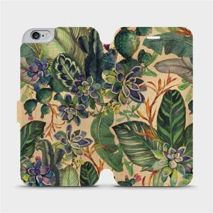 Flip pouzdro Mobiwear na mobil Apple iPhone 6s Plus / iPhone 6 Plus - VP05S Sukulenty