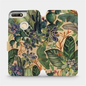 Flip pouzdro Mobiwear na mobil Huawei Y6 Prime 2018 - VP05S Sukulenty