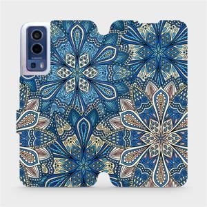 Flip pouzdro Mobiwear na mobil Vivo Y72 5G / Vivo Y52 5G - V108P Modré mandala květy