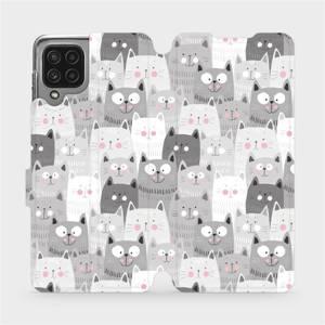 Flip pouzdro Mobiwear na mobil Samsung Galaxy M22 - M099P Kočičky