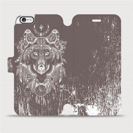 Flipové pouzdro Mobiwear na mobil Apple iPhone 6 / iPhone 6s - V064P Vlk a lapač snů
