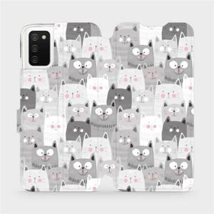 Flip pouzdro Mobiwear na mobil Samsung Galaxy A03s - M099P Kočičky