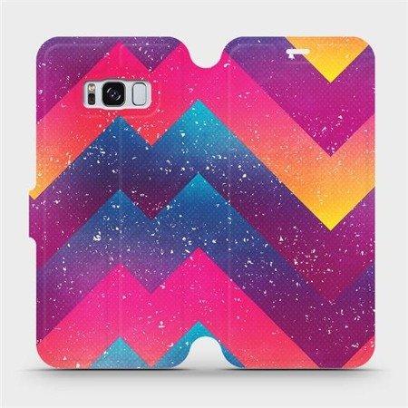 Flipové pouzdro Mobiwear na mobil Samsung Galaxy S8 - V110S Barevné klikyháky