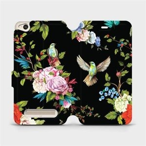 Flipové pouzdro Mobiwear na mobil Xiaomi Redmi 4A - VD09S Ptáčci a květy