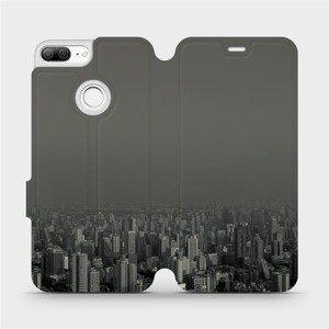 Flipové pouzdro Mobiwear na mobil Honor 9 Lite - V063P Město v šedém hávu