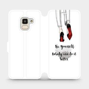 Flipové pouzdro Mobiwear na mobil Samsung Galaxy J6 2018 - M046P Be yourself