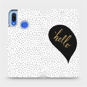 Flipové pouzdro Mobiwear na mobil Huawei Nova 3 - M013P Golden hello