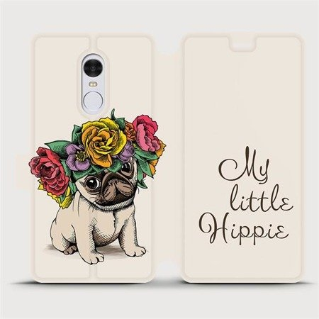 Flipové pouzdro Mobiwear na mobil Xiaomi Redmi Note 4 Global - M039P Mopsík My Little Hippie