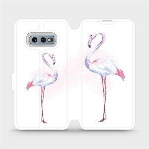 Flipové pouzdro Mobiwear na mobil Samsung Galaxy S10e - M005S Plameňáci