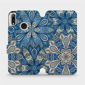 Flipové pouzdro Mobiwear na mobil Huawei Y7 2019 - V108P Modré mandala květy