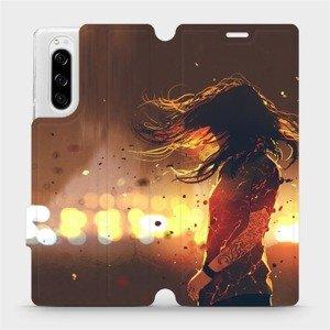 Flipové pouzdro Mobiwear na mobil Sony Xperia 5 - MA02S Tetovaná dívka