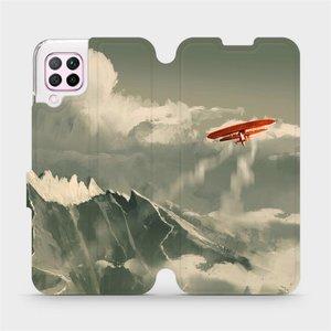 Flipové pouzdro Mobiwear na mobil Huawei P40 Lite - MA03P Oranžové letadlo v horách
