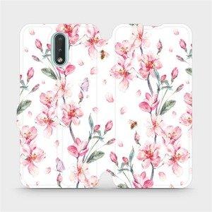 Flipové pouzdro Mobiwear na mobil Nokia 2.3 - M124S Růžové květy