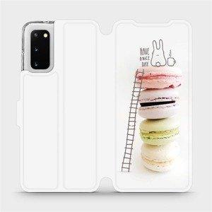 Flipové pouzdro Mobiwear na mobil Samsung Galaxy S20 - M090P Makronky - have a nice day