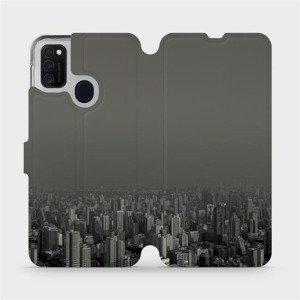 Flipové pouzdro Mobiwear na mobil Samsung Galaxy M21 - V063P Město v šedém hávu