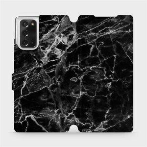 Flipové pouzdro Mobiwear na mobil Samsung Galaxy Note 20 - V056P Černý mramor