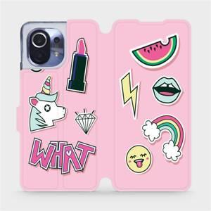 Flipové pouzdro Mobiwear na mobil Xiaomi Mi 11 - M129S Růžové WHAT