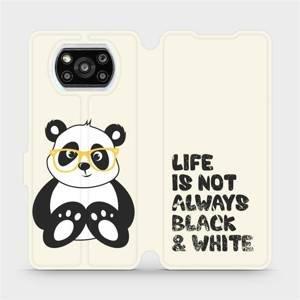 Flipové pouzdro Mobiwear na mobil Xiaomi Poco X3 Pro - M041S Panda - life is not always black and white