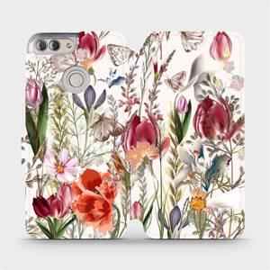 Flip pouzdro Mobiwear na mobil Huawei P Smart - MP01S Rozkvetlá louka