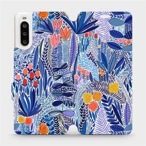 Flip pouzdro Mobiwear na mobil Sony Xperia 10 II - MP03P Modrá květena