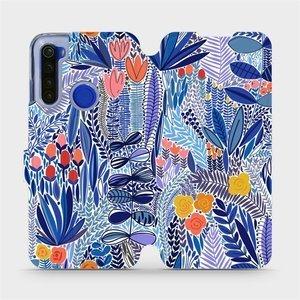Flip pouzdro Mobiwear na mobil Xiaomi Redmi Note 8T - MP03P Modrá květena