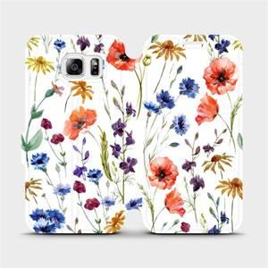 Flip pouzdro Mobiwear na mobil Samsung Galaxy S6 - MP04S Luční kvítí
