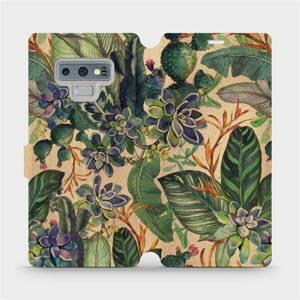 Flip pouzdro Mobiwear na mobil Samsung Galaxy Note 9 - VP05S Sukulenty