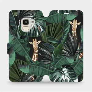 Flip pouzdro Mobiwear na mobil Samsung Galaxy J6 2018 - VP06P Žirafky