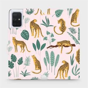 Flip pouzdro Mobiwear na mobil Samsung Galaxy A71 - MP07S Leopardi