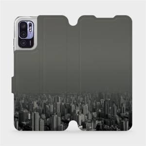 Flip pouzdro Mobiwear na mobil Xiaomi Redmi Note 10 5G - V063P Město v šedém hávu