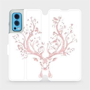 Flip pouzdro Mobiwear na mobil OnePlus Nord 2 5G - M007S Růžový jelínek