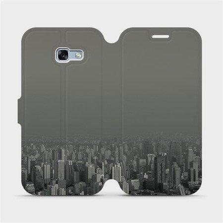 Flipové pouzdro Mobiwear na mobil Samsung Galaxy A5 2017 - V063P Město v šedém hávu